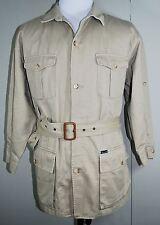 FACONNABLE Trench Coat - Mens XL 100% Cotton Khaki Twill Albert Goldberg France