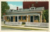 WARREN PA THE LITTLE HOUSE w/ PICKET FENCE VINTAGE POSTCARD