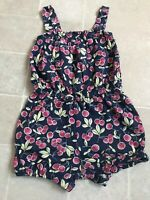 baby gap cherries playsuit Girls Red White And Blue Age 5 GUC