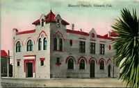 Vtg Postcard c 1908 Masonic Temple, Oxnard CA - Newman Post Card Co