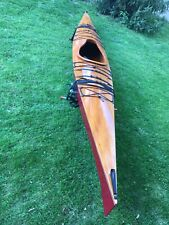 Mahogany Wood Sea Kayak Handmade, Brand New, 17-18 Ft w/Garage And Car Mounts