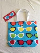 NEW Estee Lauder Lisa Perry Sunglass Pattern Logo Beach Tote Bag