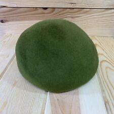 Henry Pollak Ny Beret Green 100% Wool Ritz French Hat Sz 22 Union Made B108