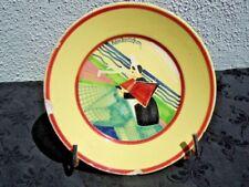 Assiette decor bretonne Le ramendage des filets de pêche René Olichon vers 1930
