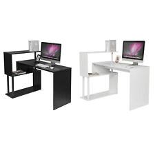 Eckschreibtisch Schreibtisch PC Computertisch mit Regal Bürotisch Arbeitstisch