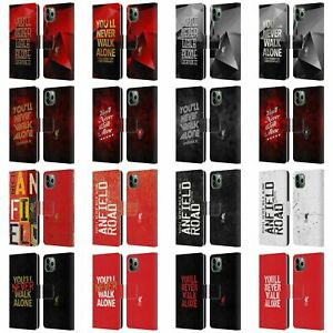 LIVERPOOL FC LFC LIVER BIRD YNWA PU LEATHER BOOK CASE FOR APPLE iPHONE PHONES