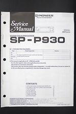 PIONEER sp-p930 Original Sound Processor Service-Manual/Istruzioni/schema elettrico o80