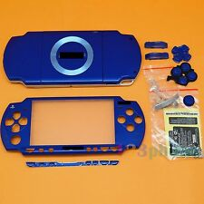 BRAND NEW FULL HOUSING OUTER LENS + BUTTON SET +SCREW SET FOR SONY PSP 2000 BLUE