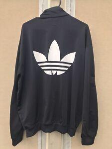 Mens Adidas Originals Firebird Vintage Jacket Tracksuit Top Black GREAT USED