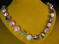 MARIANA NECKLACE SWAROVSKI CRYSTALS PINK SILVER PL MOSAIC Multi Gift Mothers Day