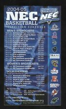 Northeast Conference--2004-05 Basketball Magnet Schedule