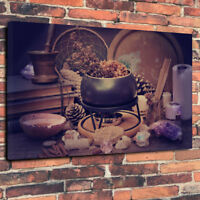 "Wiccan, Wicca Magic Cauldron Printed Canvas Picture A1.30""x20""30mm Deep Magic"