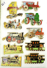 10 Railroad Train Transportation Car 1976-82 Lions Club Trading Pins Utah Kansas