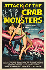 Vintage 1950 S Attack of the Crab Monsters Movie Poster a3 Print