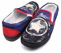Women's Marvel® Comics Captain America Blue Slip-On Shoes Medium Width SZ