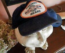 Vintage Chicago Bears 1986 SUPERBOWL NFL Sports Corduroy Football Baseball Hat
