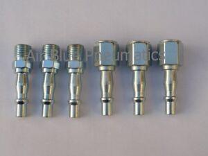 6 Pcs 1/4 BSP Air Line Hose Coupler / Fittings Male / Female / Quick Connector
