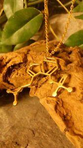 Psilocybin Magic Mushroom Molecule DNA genetic structure pendant necklace