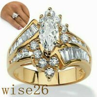 Elegant Women Plated Rings Simulated Zircon Ring Wedding Gift Rings