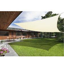 UK Cream Sun Shade Sail Garden Patio Sunscreen Awning Canopy Screen 98% UV Block