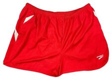 "Brooks Men's Running Shorts Size 2XL Red White 3"" Brief Lined Split Flyaway New"