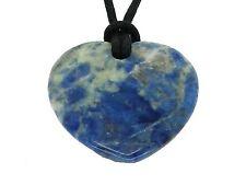 Lucky Sagitario Piedra Colgante de corazón Zodiac Astrology Piedras Preciosas Sodalita