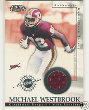 2002 PACIFIC EXCLUSIVE GAME JERSEYS MICHAEL WESTBROOK