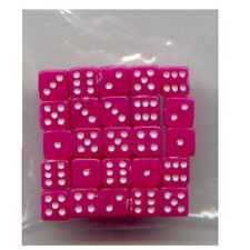 NEW Dice Set of 25 D6 (5mm) - Opaque Pink