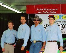 ADAM KYLE RICHARD PETTY 1999 NASCAR FAMILY PHOTO 8X10 PHOTO JOHN ANDRETTI