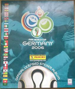 PANINI WORLD CUP 2006 COMPLETE STICKER ALBUM 0-596 INCLUDES MESSI & RONALDO