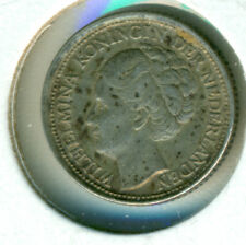1944 NETHERLANDS 10 CENTS, EXTRA FINE, GREAT PRICE!