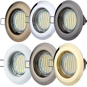 Einbaustrahler GU10 Rund Einbaurahmen Einbauleuchte Spot LED 1 ,3 ,5 ,10er ALPA