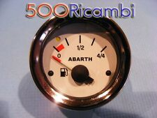 FIAT 500 F/L/R EPOCA LIVELLO BENZINA ABARTH STRUMENTO CRUSCOTTO 52 FONDO BIANCO