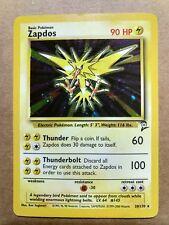 1995 Holographic Zapdos Authentic Nintendo Pokemon Card Base Set 2 Symbol Sale