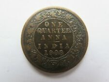 1908 INDIA COPPER QUARTER ANNA in NICE COLLECTABLE CONDITION KING EDWARD VII