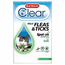Bob Martin Clear Cat Kitten Spot on Treatment 3 Tubes up to 24 Weeks Solution
