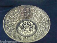 "VTG. CUT GLASS SERVING BOWL-10""-SCALLOPED TOP RIM-PETAL DESIGN"