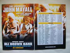 JOHN MAYALL/Oli Brown Band Live in Concert  2011 UK Tour. Promo tour flyers x 2