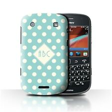 Personalized Custom Polka Dot Phone Case for Blackberry Bold 9900/Initial Cover