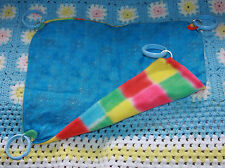 Custom Pet Hammock Ferret Bunny Rat Blue Colorful Fleece Lining