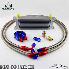 AN-8AN 13 Row Universal Engine Oil Cooler + Filter Sandwich Adapter Kit