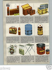 1956 PAPER AD Davy Crockett Frontierland Lunch Kit Box Thermos
