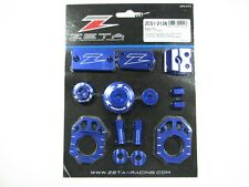 Zeta Aluminum Billet Kit Blue For Kawasaki KX250F 11-17 450F 09-17
