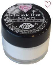Twinkle Dust Snow White Edible Cake Glitter Rainbow Dust