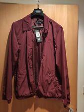 Firetrap Coach Jacket Mens Burgundy UK Size L