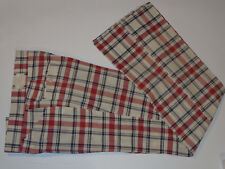 VTG 1970s NEW WITH TAG  DOZI IZOD PLAID PANTS! HAND WOVEN COTTON! FLAT FRONT 30