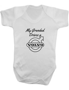 My Grandad Drives a Volvo -Baby Vest-Baby Romper-Baby Bodysuit-100% Cotton