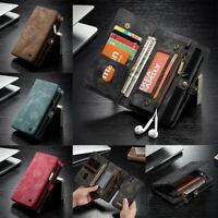 For iPhone 11 Pro Xs Max SE 8+ Genuine CaseMe Magnetic Leather Wallet Cover Case