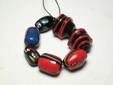 alte glas perlen trade beads murano stil rot