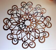 "Ornamental Heart Medallion Copper/bronze Plated 18"""